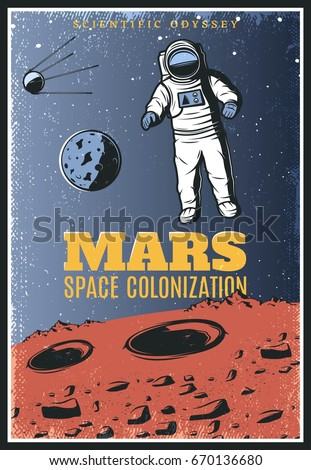 Men are from mars stock images royalty free images for Outer space poster design