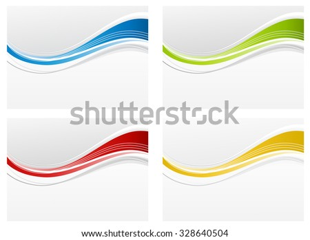 colored wave abstract background - stock vector