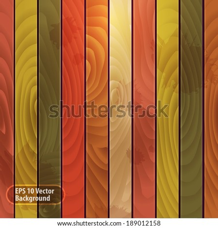 Colored wood eps10 vector background - stock vector