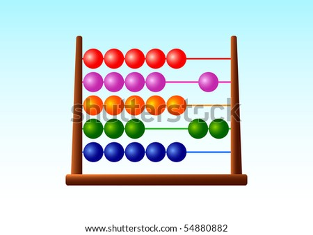 Colorful abacus - stock vector