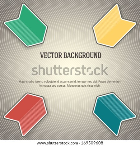 Colorful abstract arrow background & presentation template/ Vector illustration EPS 10 arrow logo /  infographics magazine cover / graphic website layout / business process map, powerpoint background  - stock vector