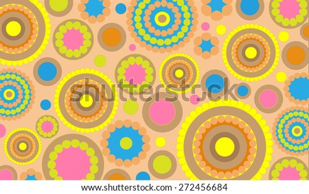 colorful abstract background consisting of a circle
