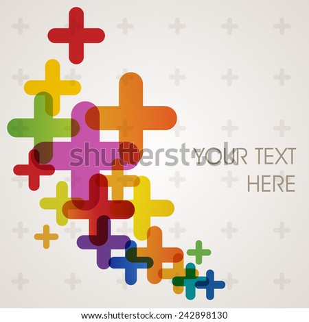 Colorful abstract background, eps10 vector - stock vector