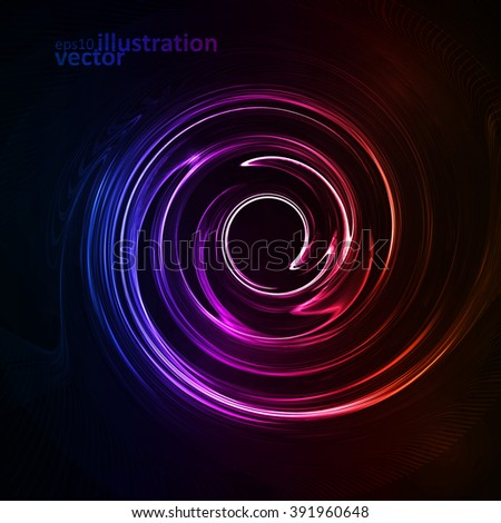 Colorful abstract background, futuristic vector wavy illustration eps10 - stock vector