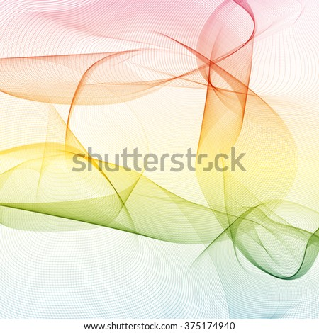 Colorful abstract background is created from simple wavy lines. Simple elements of design for creation of more difficult ideas.