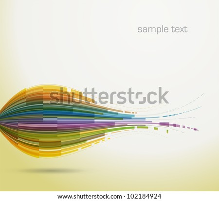 Colorful abstract background - vector - stock vector