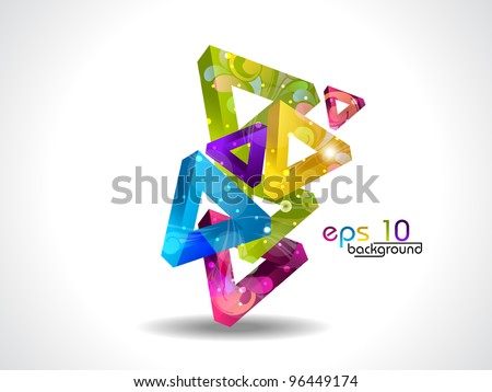 Colorful abstract background. Vector illustration. Isolated on white. - stock vector