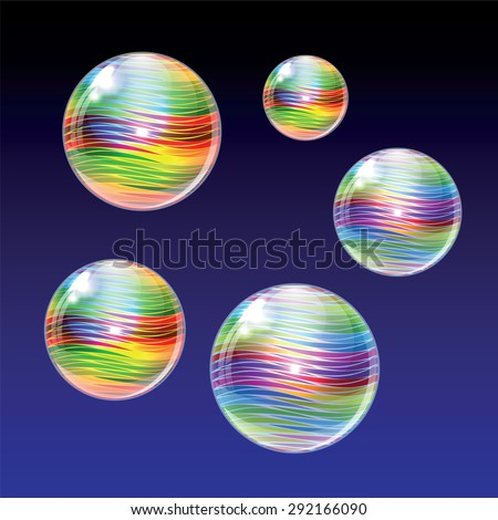 Colorful abstract background with colorful glass balls. - stock vector