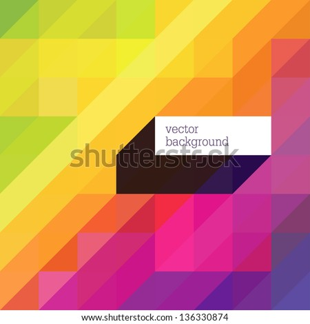 Colorful abstract background with diagonal shapes and space for text. Vector - stock vector