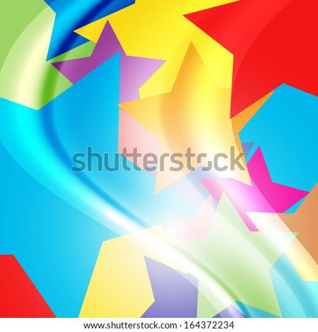 colorful abstract background with elements similar to the balloons - stock vector