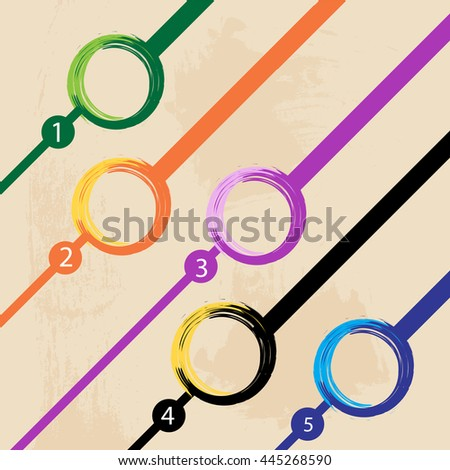 Colorful abstract background with space for text Vector illustration - stock vector