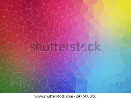 Colorful abstract background with voronoi shapes. Vector - stock vector