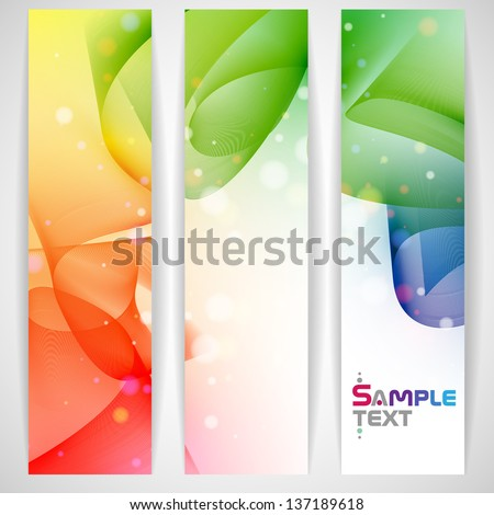Colorful abstract banner. Vector illustration. Eps 10. - stock vector