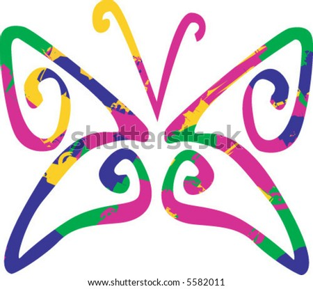 Colorful abstract Butterfly - stock vector