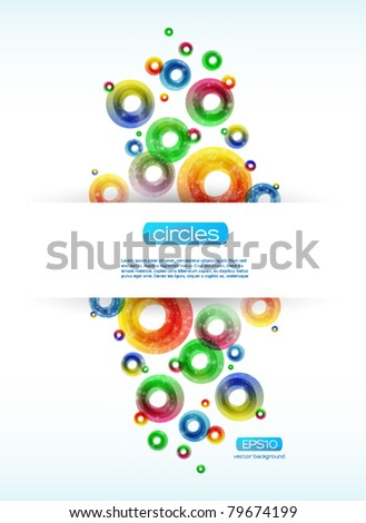 Colorful Abstract Circles Background - stock vector