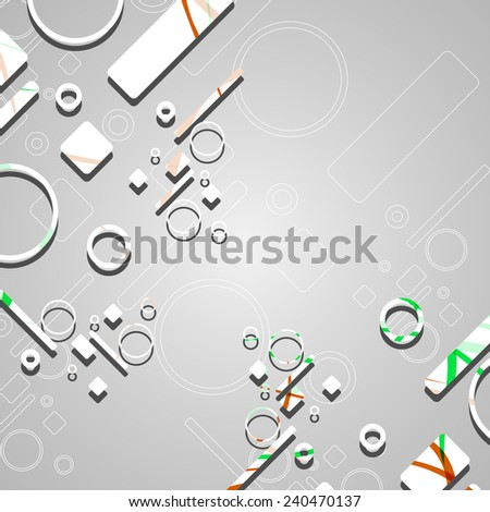 Colorful abstract circles background dynamic illustration.