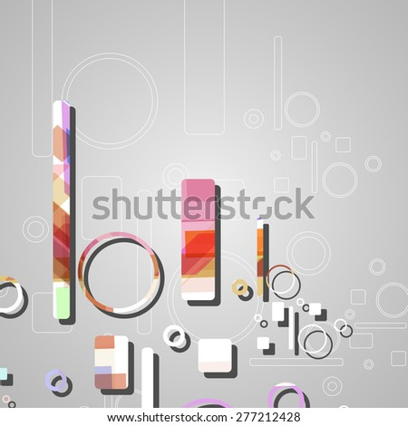 Colorful abstract circles background, dynamic illustration.