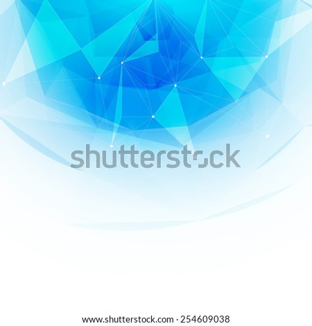 Colorful abstract crystal background. Ice or jewel structure. Blue bright color. - stock vector