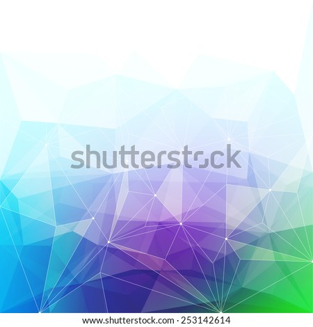 Colorful abstract crystal background. Ice or jewel structure. Purple, green and blue bright colors. - stock vector