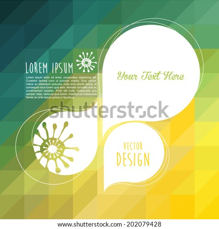 Colorful abstract design pattern. Background illustration with your text.