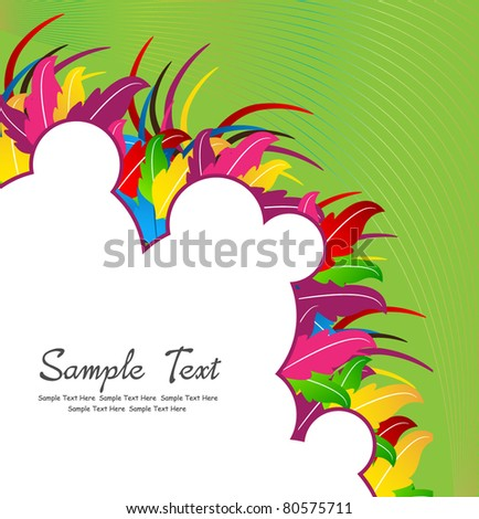 colorful abstract design with space for your text - stock vector