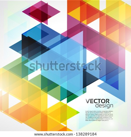 Colorful Abstract  Geometric Background - stock vector