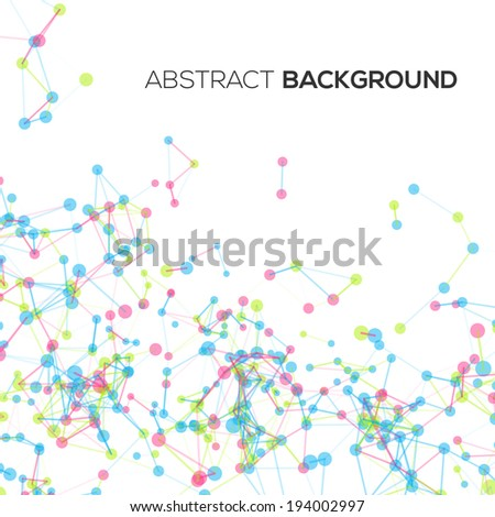 Colorful abstract geometric background with circles and lines