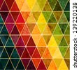 Colorful abstract geometric background with triangular polygons. - stock vector