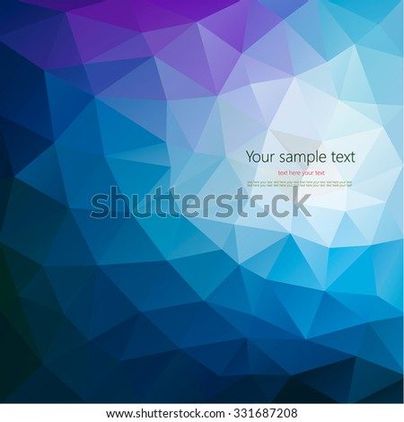 Colorful abstract geometric background with triangular polygons. Colorful mosaic of triangle - stock vector