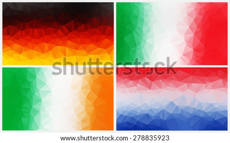 Colorful abstract geometric background with triangular polygons .concept flags nation.Vector illustration.