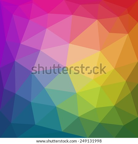 Colorful abstract geometric triangular low poly style background. Vector illustration - stock vector