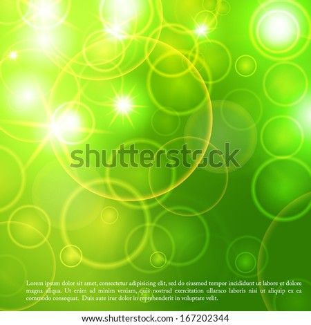 Colorful abstract green background