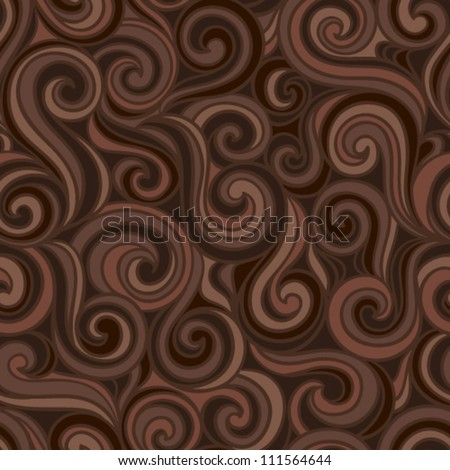 Colorful abstract hand-drawn pattern, waves or curls background. Seamless pattern for your design wallpapers, pattern fills, web page backgrounds, surface textures. - stock vector