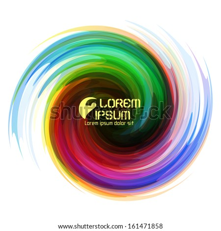 Colorful abstract icon. Dynamic flow illustration. Swirl background.  - stock vector