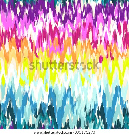 colorful abstract ikat print ~ seamless background  - stock vector