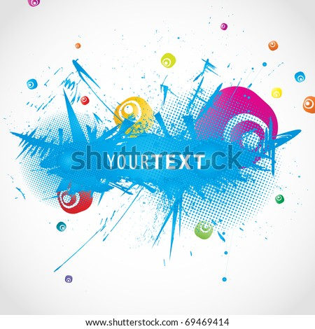 Colorful abstract illustration. Vector - stock vector
