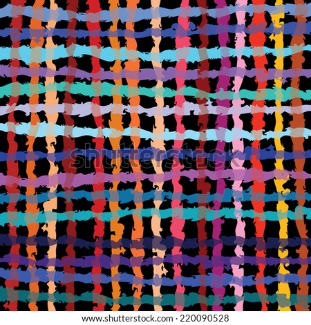 Colorful abstract linear grid