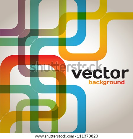 Colorful Abstract Lines - stock vector