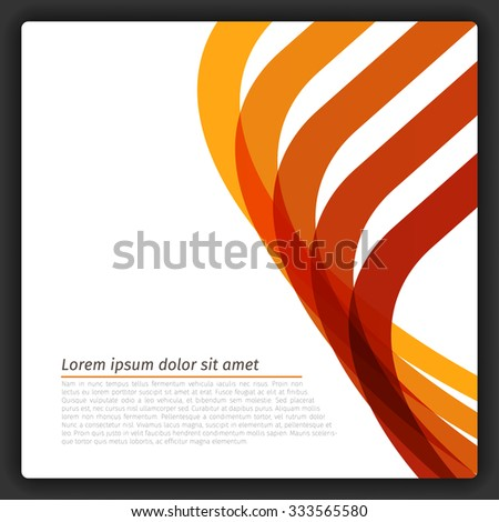 Colorful Abstract Lines Template | EPS10 Vector - stock vector
