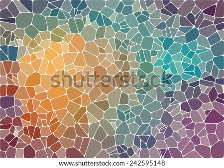 Colorful abstract mosaic background - stock vector