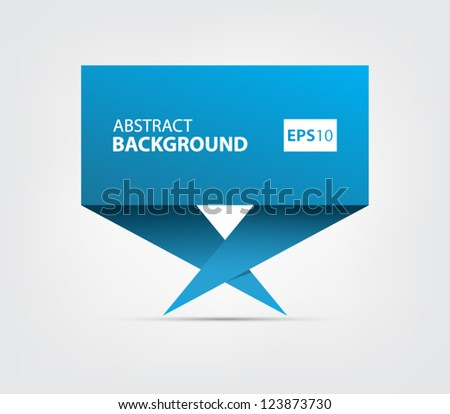 Colorful abstract origami style banner, speech bubble with shadow for websites or business design - stock vector