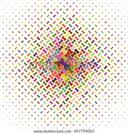 Colorful abstract puzzle pattern background design - vector illustration