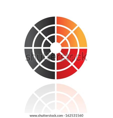 Colorful Abstract Radar Icon - stock vector