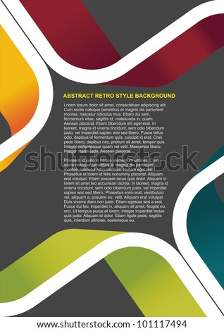 Colorful abstract retro vector background for text - stock vector