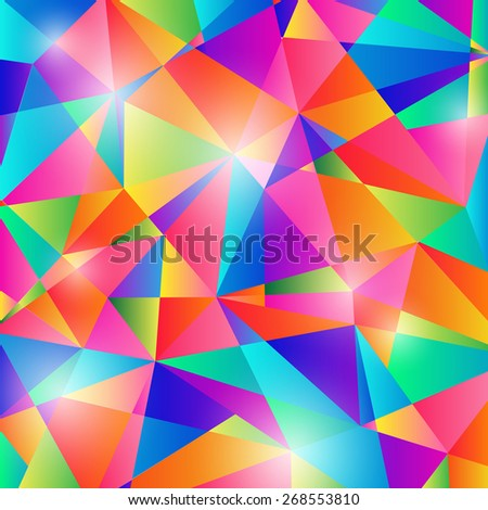 Colorful Abstract Shapes Background Vector - stock vector