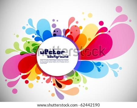 Colorful abstract splash design,vector illustration - stock vector