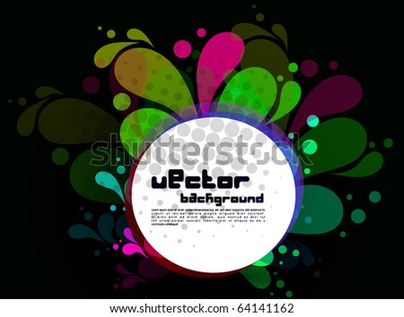Colorful abstract splash design,vector illustration