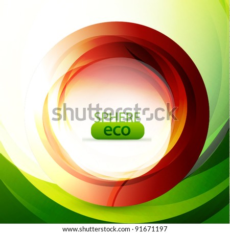 Colorful abstract swirl - stock vector