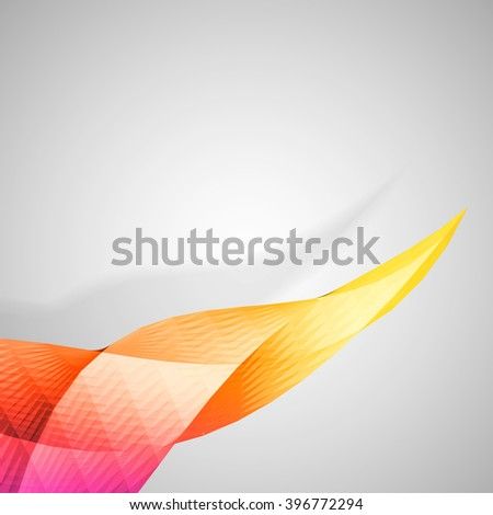 Colorful abstract twisted element on white background, vector eps 10 illustration - stock vector