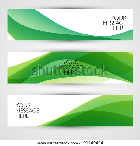 Colorful abstract vector banners. Waves backgrounds. - stock vector